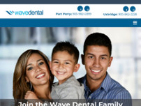 Wave Dental Port Perry website screenshot