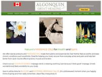 ALGONQUIN GREAT HEALING website screenshot