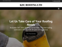 KDC Roofing Ltd website screenshot