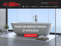 Plomberie Gariépy Inc website screenshot