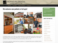 Signature Dental website screenshot