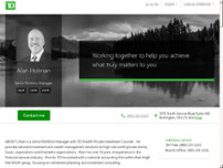 TD Bank Private Investment Counsel - Alan Holman website screenshot
