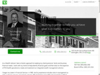 TD Bank Private Banking - Christopher Brennan website screenshot