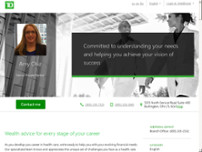 TD Bank Private Banking - Amy Chiz website screenshot