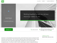 TD Bank Private Banking - Julie Kwan website screenshot