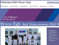 Malergeschäft Bruno Egli website screenshot
