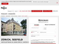 Zürich, Seefeld website screenshot