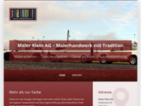 Maler Klein AG website screenshot