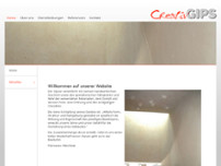 Creativ Gips GmbH website screenshot