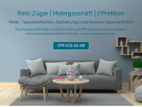 Reto Züger Malergeschäft website screenshot