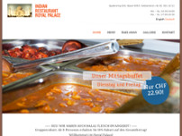 Indian Restaurant Royal Palace website screenshot