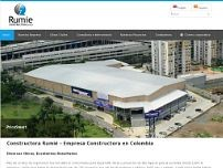Constructora Rumié website screenshot