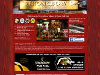 Strongbows Pub website screenshot