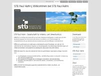 STB Paul Hahn GmbH website screenshot