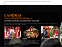 Indisches Restaurant Ganesha website screenshot