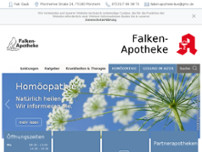 Falken-Apotheke website screenshot