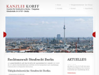 Daniel Korff Anwaltskanzlei website screenshot