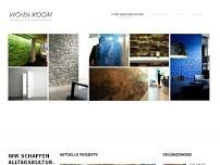 Wohn-Room Innenausbau GmbH website screenshot