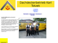 Dachdeckerbetrieb Karl Totzek website screenshot