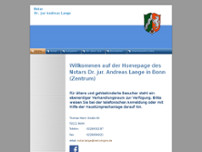 Dr.jur. Andreas Lange website screenshot