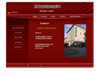 Hotel-Pension Schmellergarten website screenshot