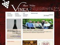 Vinea Weinhandel GmbH website screenshot