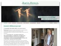 Karin Henze website screenshot