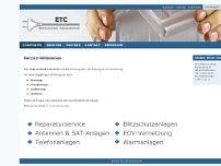 Oliver Czwink Elektro-ETC website screenshot