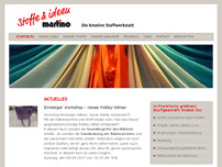 Martino Stoffe & Ideen website screenshot
