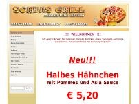 Sorbas Grill-Pizzeria Pizza-Taxi website screenshot