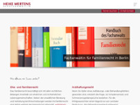 Heike Mertens website screenshot