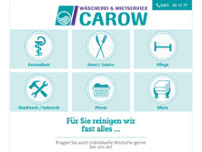 Wäscherei Carow GmbH & Co. KG website screenshot