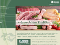 Fleischerei Bachhuber website screenshot