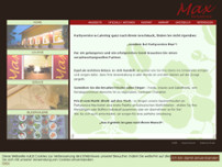 Max Partyservice website screenshot