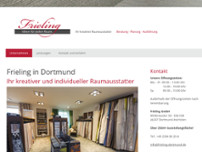 Frieling Raumausstattungen website screenshot
