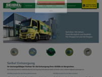 Seibel Entsorgung GmbH & Co. KG website screenshot