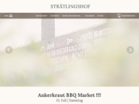 Strätlingshof website screenshot