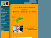 Clemens Sander website screenshot