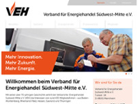 Verband für Energiehandel Südwest-Mitte e.V. website screenshot