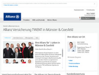 Allianz Hauptvertretung Ingo Twent website screenshot