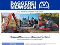 Baggerei Mewissen GmbH website screenshot