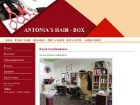 Antonias Hairbox - Friseur Giesing website screenshot