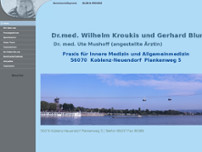 Gerhard Blum website screenshot
