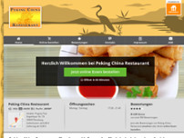 China Restaurant Peking website screenshot