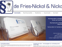 Rechtsanwälte de Fries-Nickol & Nickol website screenshot