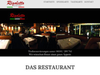 Restaurant Rigoletto website screenshot