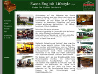 Evans English Lifestyle GbR Schloß Gut Wulften website screenshot