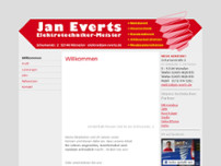 Jan Everts Elektrotechniker-Meister website screenshot