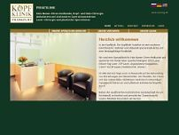Kopfklinik Frankfurt GmbH website screenshot