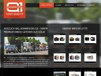 Q1-first quality catering GmbH website screenshot